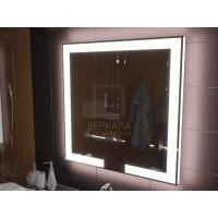 Зеркало с подсветкой лентой для ванной комнаты Новара 80x80 см