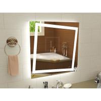 Квадратное LEd зеркало с подсветкой для ванной Торино 800x800 мм
