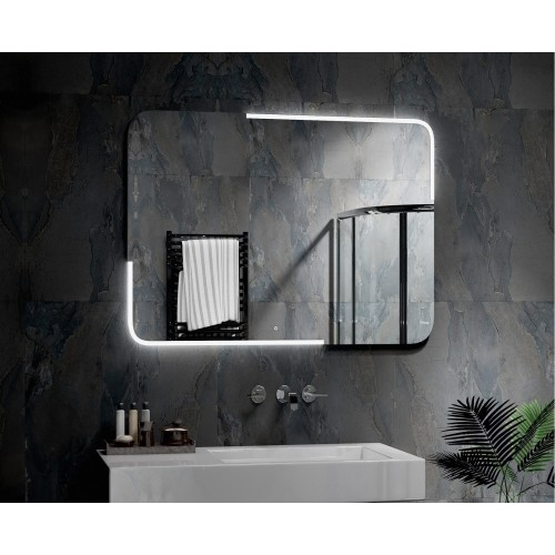 Зеркало с сенсорной подсветкой в ванную комнату Паркер